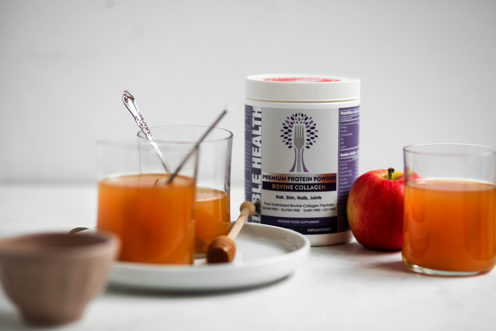 Sweet Apple Collagen Tea Recipe