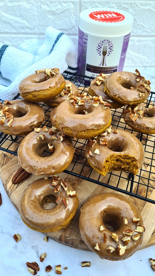 Pumpkin Doughnuts with Maple Collagen Frosting Recipe