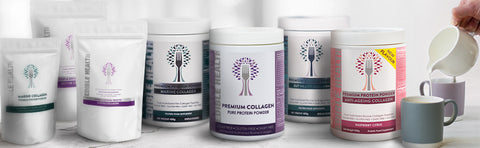Line-up of Edible Health collagen full range