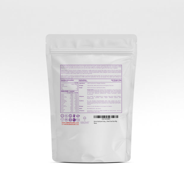 <h1>Hydrolysed Bovine Collagen Powder 200g Travel Pouch</h1>