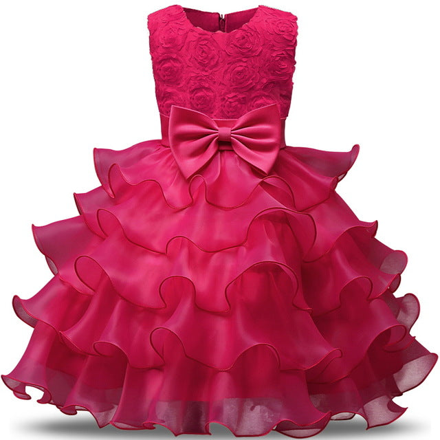 Flower Girl Dress For Wedding Baby Girl 3-8 Years Birthday Outfits ...