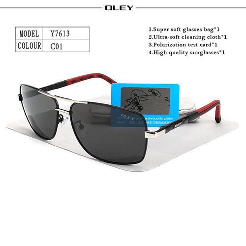 1fdf80a54e1 OLEY Brand Polarized Sunglasses Men New Fashion Eyes Protect Sun Glasses  With Accessories Unisex driving goggles