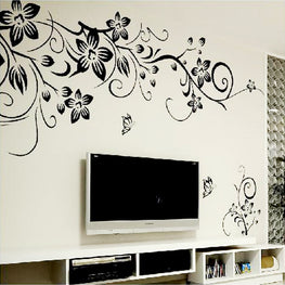 Hot DIY Wall Art Decal Decoration Fashion Romantic Flower Wall Sticker/ Wall  Stickers Home Decor