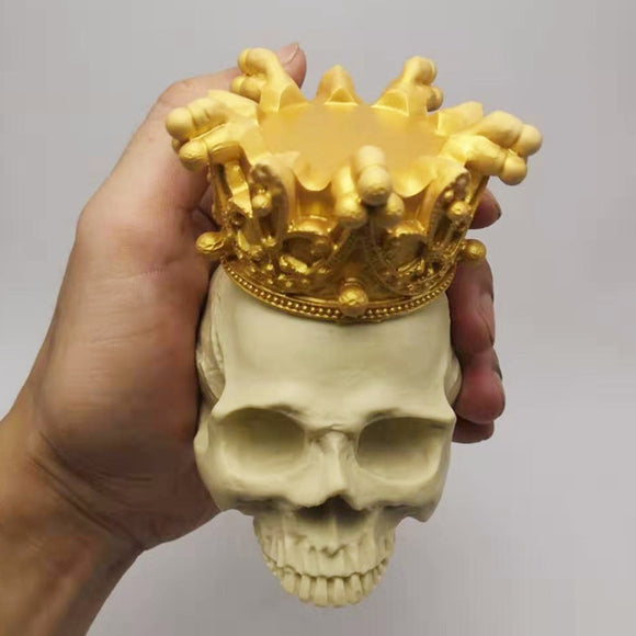 3D Crown Skull Silicone Mold - MsDIYSupplies