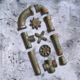 Steampunk Rusty Pipes Border Mold