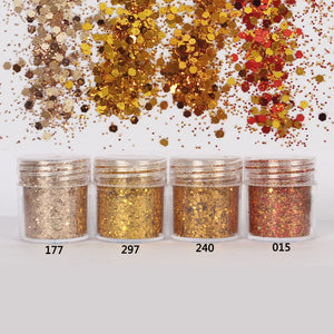 Gold Hexagon Glitter Sequin Mix for Resin Crafts