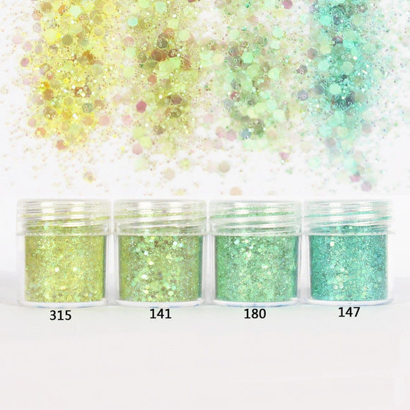 Ice Magic Hexagon Glitter Sequin Mix for Resin Crafts