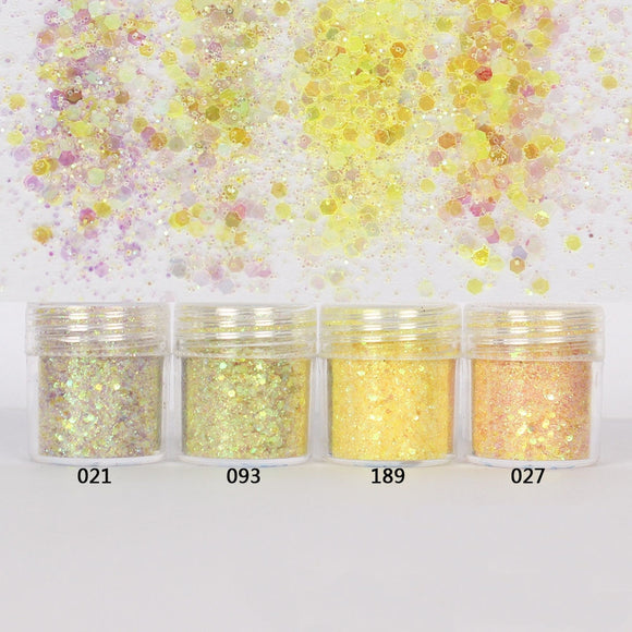 Yellow Hexagon Glitter Sequin Mix for Resin Crafts