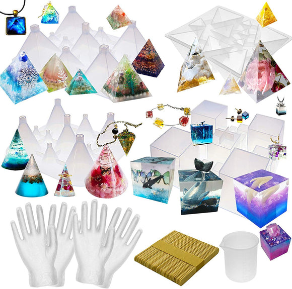 57pcs Pyramid Cone Jewellery Making Kit