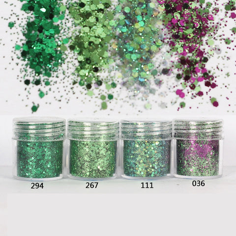 Grass Green Hexagon Glitter 1mm Sequin Mix for Resin Crafts