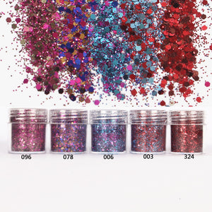 Hexagon Glitter 1mm Sequin Mix for Resin Crafts