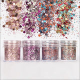 Colorful Hexagon Glitter Mix for Resin Crafts