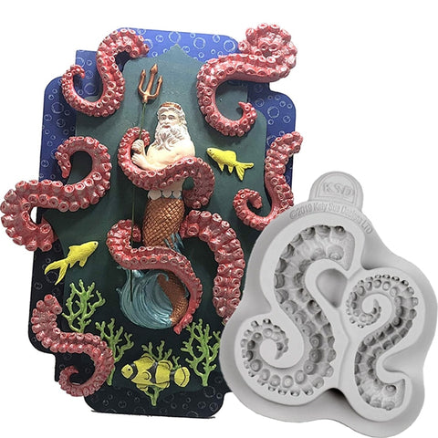 Octopus Tentacles Decorating Mold