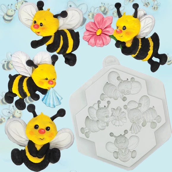 Bees Decorating Mold