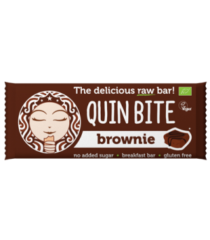 Quin Bite Brownie Bar Vegan Glutenfri Økologisk 30 g.