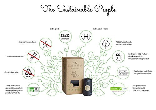 The Sustainable People - Hunde poser - Bionedbrydelig 120 stk.