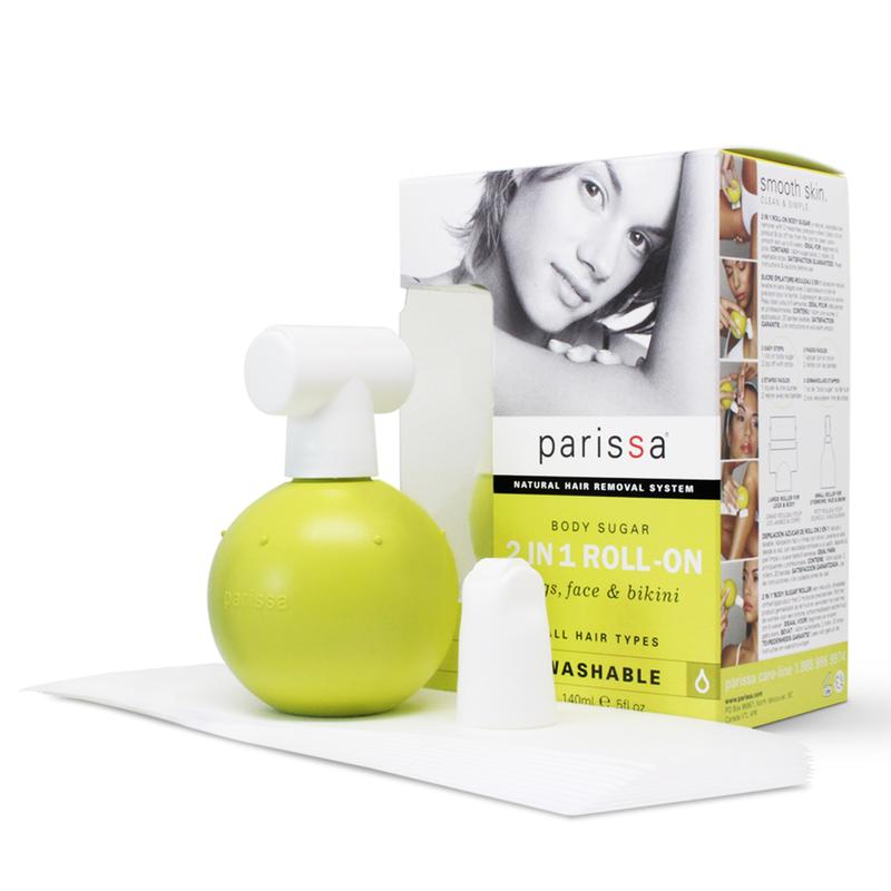 Parissa Body Sugar 2 In 1 Roll On 140 ml 20 genanvendelige Strips - Hvornum