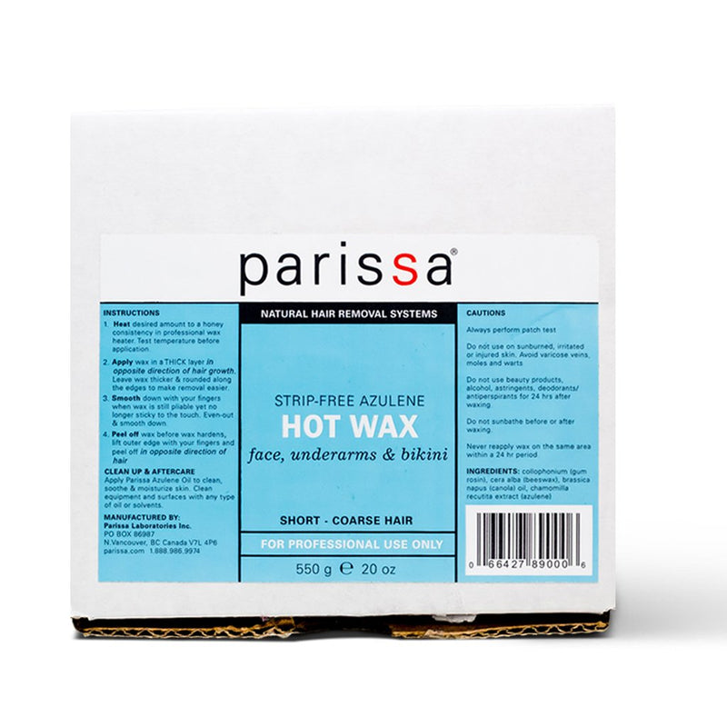 Parissa Hard Warm Wax - No Strips 550 g - Hvornum