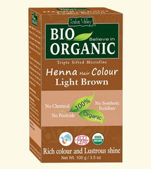 Bio Organic - Indus Valley - Henna Hårfarve Light Brun - Hvornum