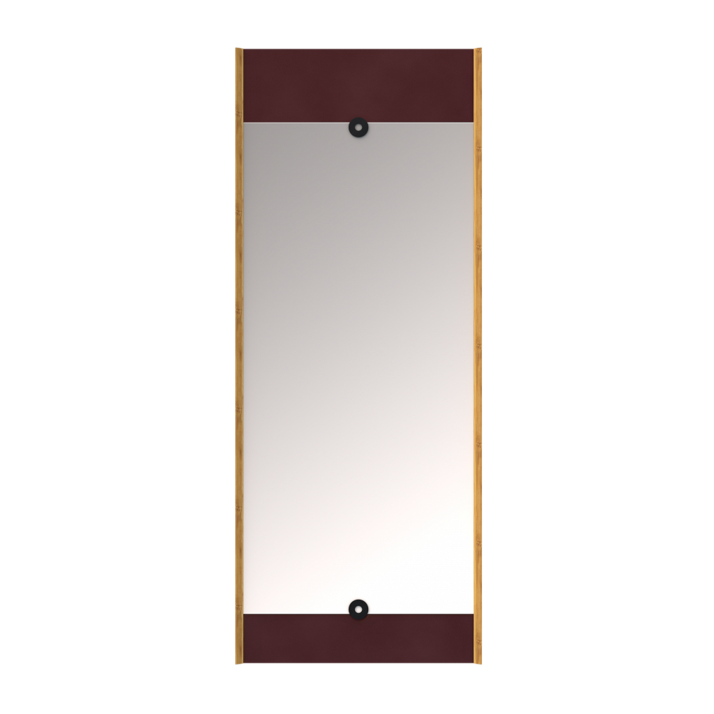 We Do Wood Layer Mirror - Red 1 stk