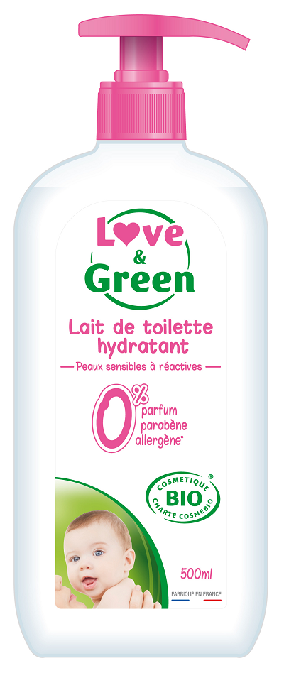 Love and Green Baby Rense og fugt milk 500 ml