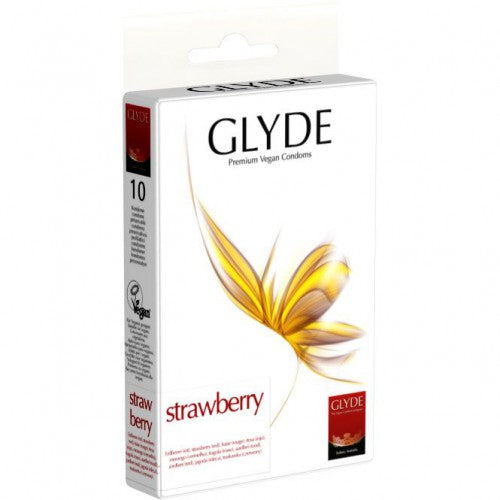 Glyde Ultra Strawberry Kondomer 10 stk - Hvornum