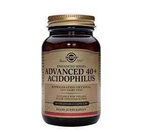 Solgar Advanced 40 plus Acidophilus mælkesyrebakterier 60 kap