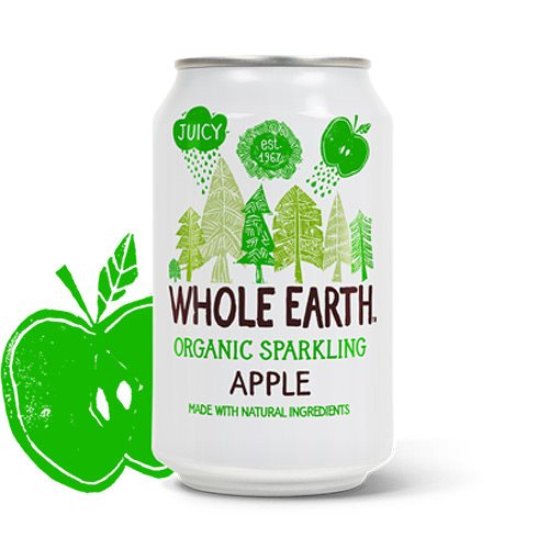 Whole Earth Æble Sodavand 330 ml - Hvornum