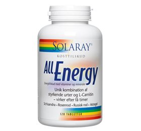 Solaray All Energy - 120 tab - Hvornum