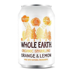 Whole Earth Appelsin & Citron Sodavand 330 ml - Hvornum