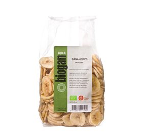 Biogan Bananchips 400 g - Hvornum