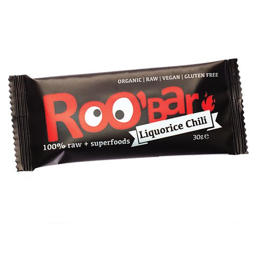 Roo´Bar Lakrids & Chili Raw bar 30 g