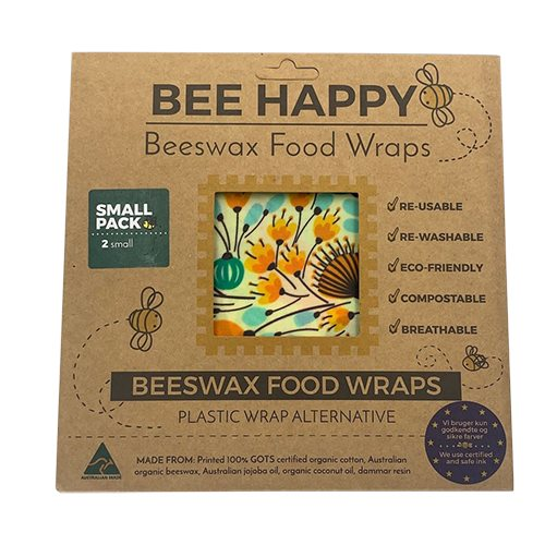 Beeswax Food Wraps 2 x Large 17 x 17 cm