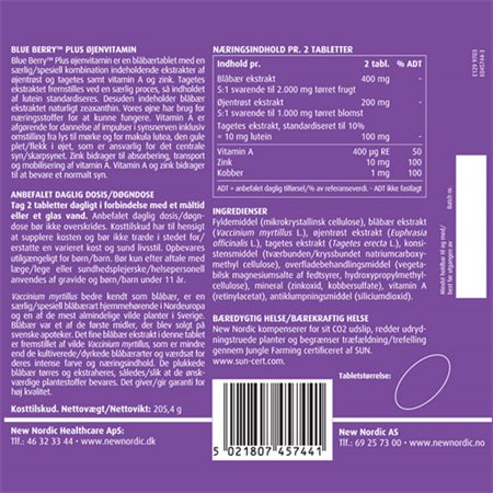 New Nordic Blue Berry Plus - Øjenvitamin 240 tabletter