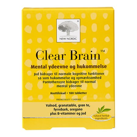 New Nordic Clear Brain 180 tabletter - Hvornum