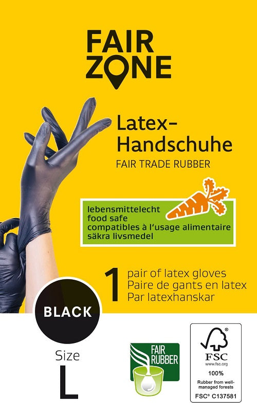 Fair Zone Latex handsker Str. L - 1 Par - Hvornum