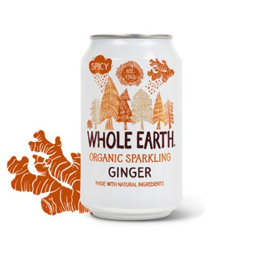 Whole Earth Ingefær Sodavand 330 ml - Hvornum