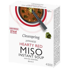 Clearspring Instant Miso Suppe Hearty Red 40 g - Hvornum