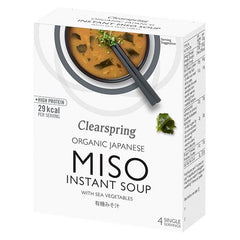 Clearspring Instant Miso Suppe Whit Sea Vegetable 40 g - Hvornum