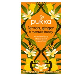 Pukka Lemon, Ginger & Manuka Honey 20 breve