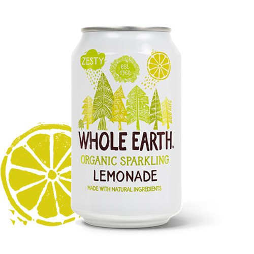 Whole Earth Lemonade Sodavand 330 ml - Hvornum