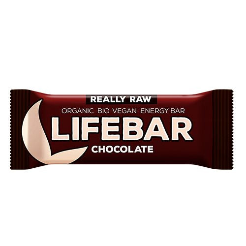 Lifebar Raw Chocolate 47 g - Hvornum