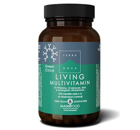 Terranova Living Multivitamin Green Child 50 Kapsler - Hvornum