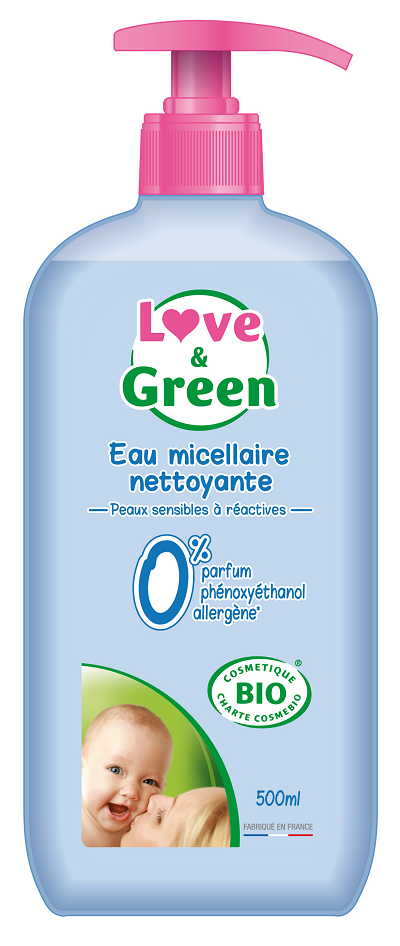love and Green Baby rense vand 500 ml