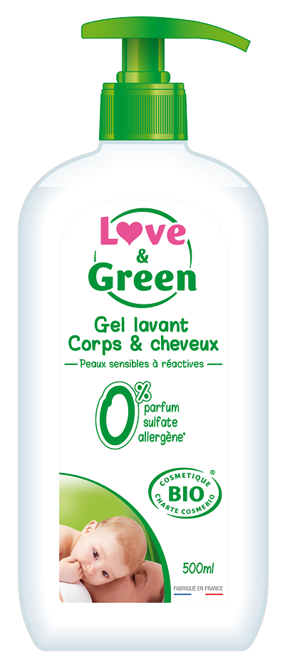 Love and Green Baby Hår & bodyshampoo 500 ml