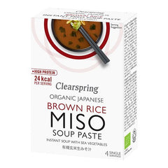 Clearspring Miso Suppe Paste 4 x 15 g - Hvornum