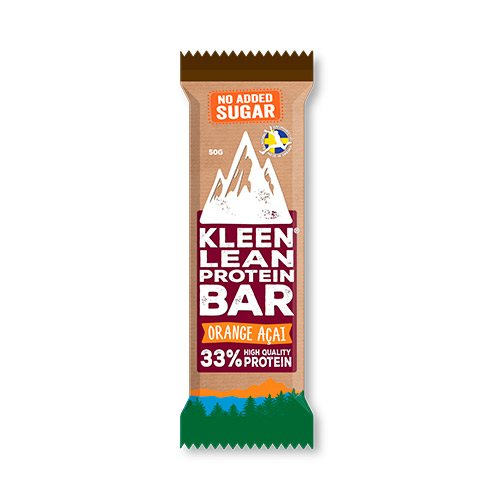 Kleen Lean Proteinbar Orange & Acai 50 g