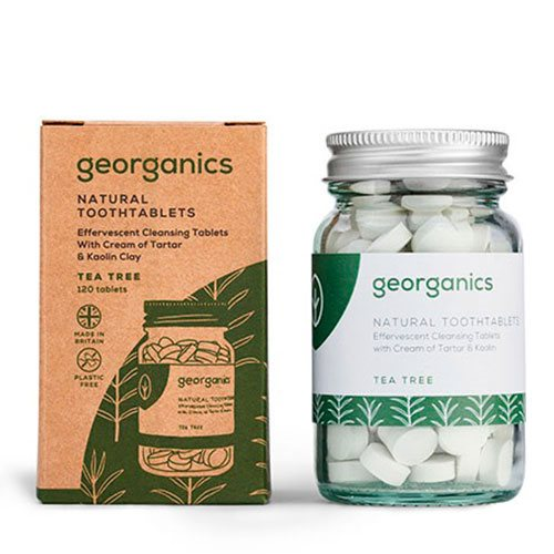 Georganics Tandpasta Tabletter - Tea Tree 120 Stk.
