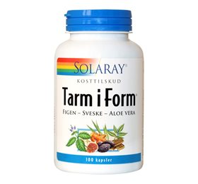 Solaray Tarm i form - 100 kap