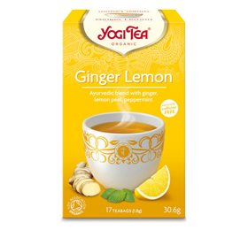 Yogi Tea Ginger lemon 17 breve - Hvornum
